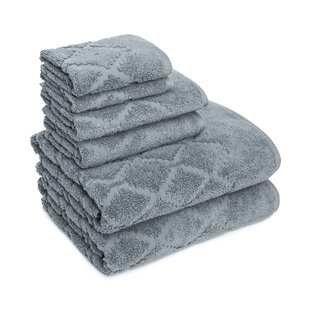 Thoman Diamond 6 Piece Cotton Towel Set