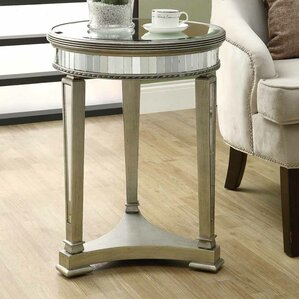 Mirrored End Table by Monarch Specialties Inc.