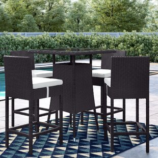 Brentwood 5 Piece Frame Bar Height Dining Set