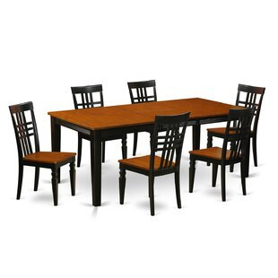 7 Piece Dining Set East West Furniture