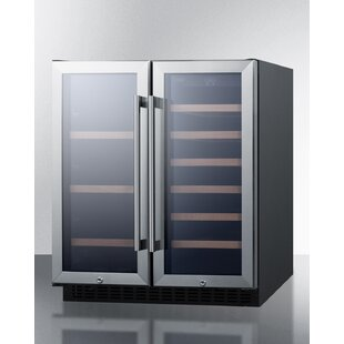 Summit 33 Bottle Dual Zone Convertible Wine Cooler by Summit Appliance
