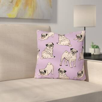 East Urban Home Pug Indoor Outdoor Throw Pillow Wayfair