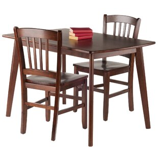Guynn 3 Piece Solid Wood Dining Set Winston Porter