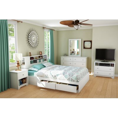 Andover Mills Olympia 6 Drawer Double Dresser Color: White