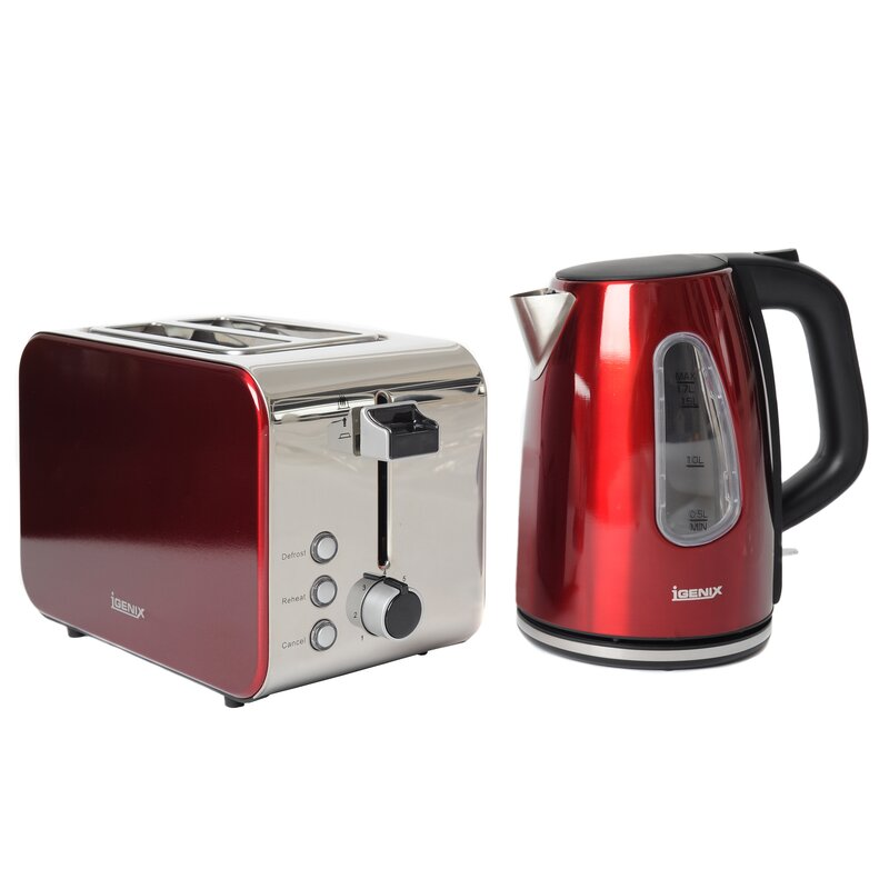 8b1e7ed12b68 Igenix 2 Slice Toaster and Kettle Breakfast Set | Wayfair.co.uk