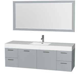 Amare 72 Single Bathroom Vanity Set with Mirror by Wyndham Collection