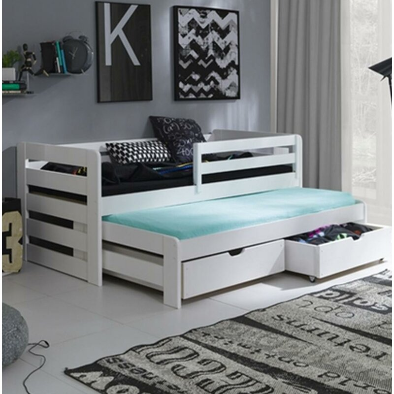 Metro Lane Levin Daybed With Trundle And Mattress Wayfair Co Uk