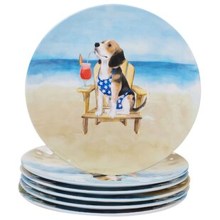 Cavanagh Dogs Melamine Dinner Plate (Set of 6)