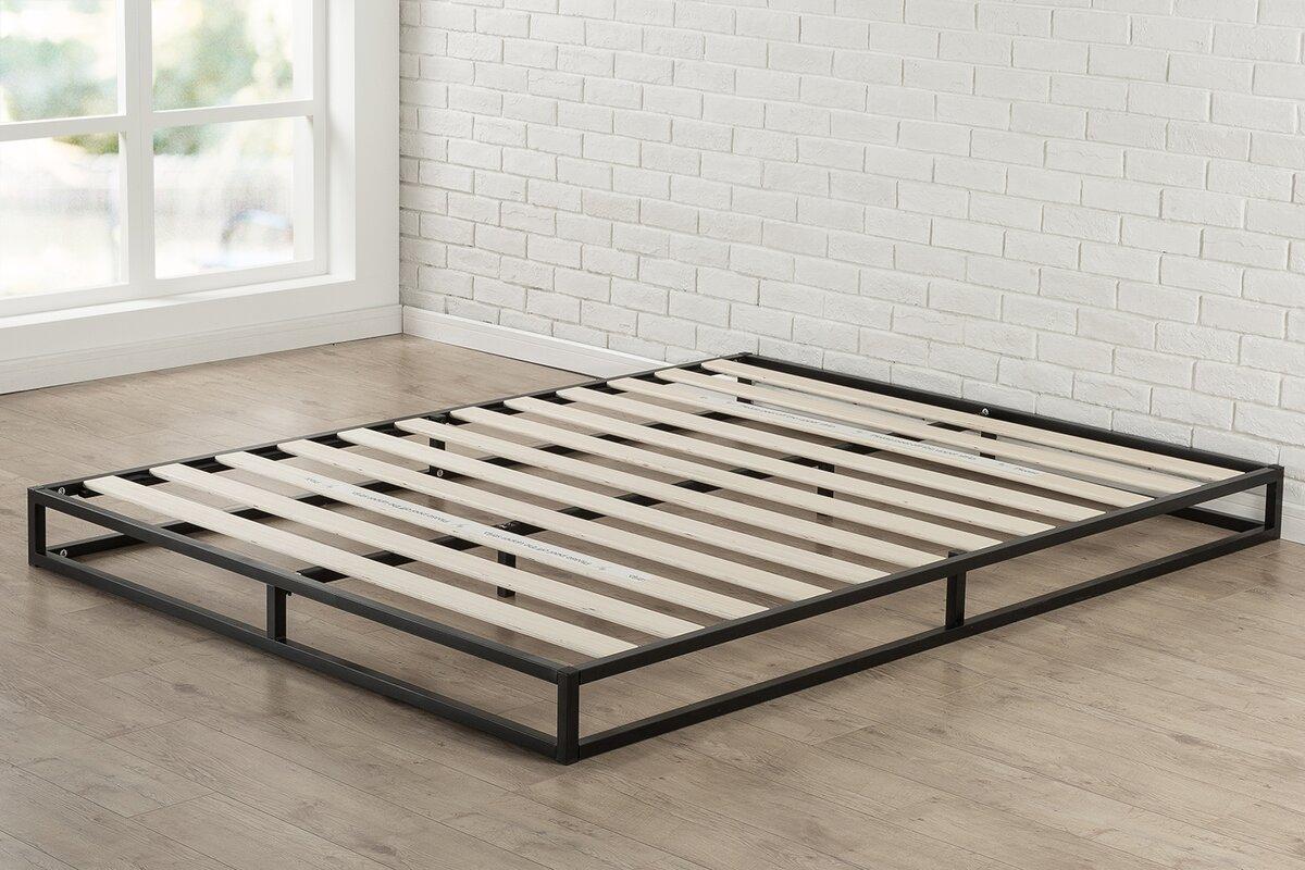modern metal beds  allmodern - st germain platform bed
