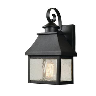 Affordable Keaton 1-Light Outdoor Wall Lantern By Charlton Home