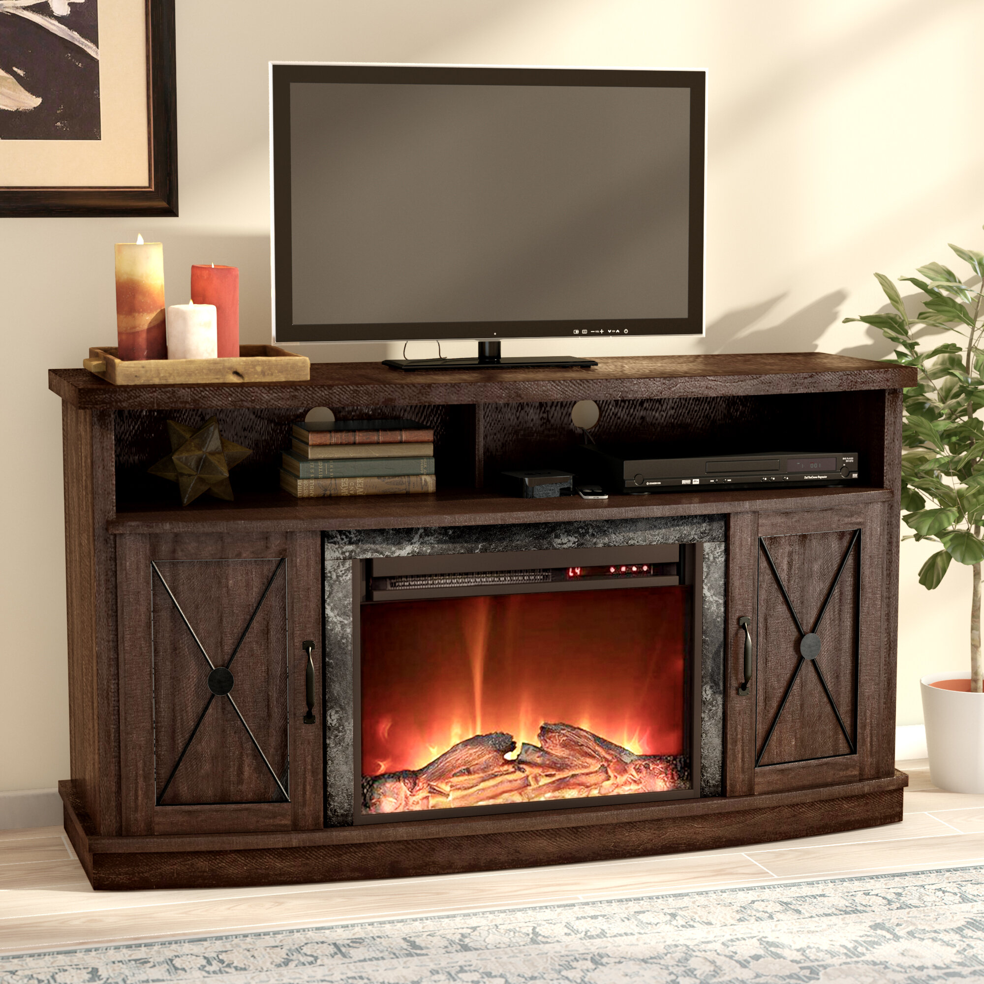 Remarkable Darby Home Co Schuyler Tv Stand For Tvs Up To 60 With Interior Design Ideas Gentotthenellocom