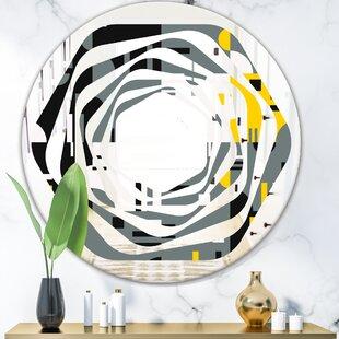 Space Butterflies Hand Drawn Modern Wall Mirror by East Urban Home