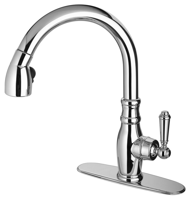 LaToscana Old Fashion Touch Single Handle Kitchen Faucet & Reviews ...
