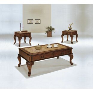 Rickett 3 Piece Coffee Table Set by Astoria Grand