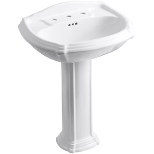 Pedestal Sink With Backsplash | Wayfair