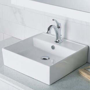 Reviews Elavo Ceramic Square Vessel Bathroom Sink with Faucet and Overflow By Kraus