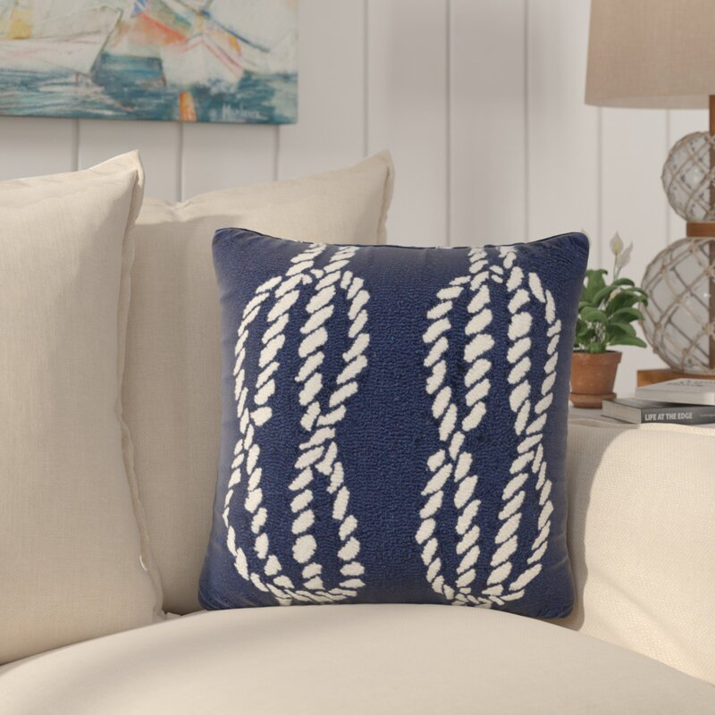 Breakwater Bay Lowes Ropes IndoorOutdoor Throw Pillow Wayfair Inspiration Lowes Outdoor Decorative Pillows