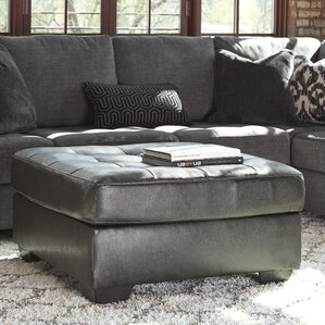Benitez Leather Ottoman by..