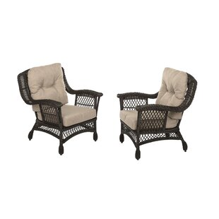 Rubenstein Garden Patio Chair with Cushions (Set of 2)