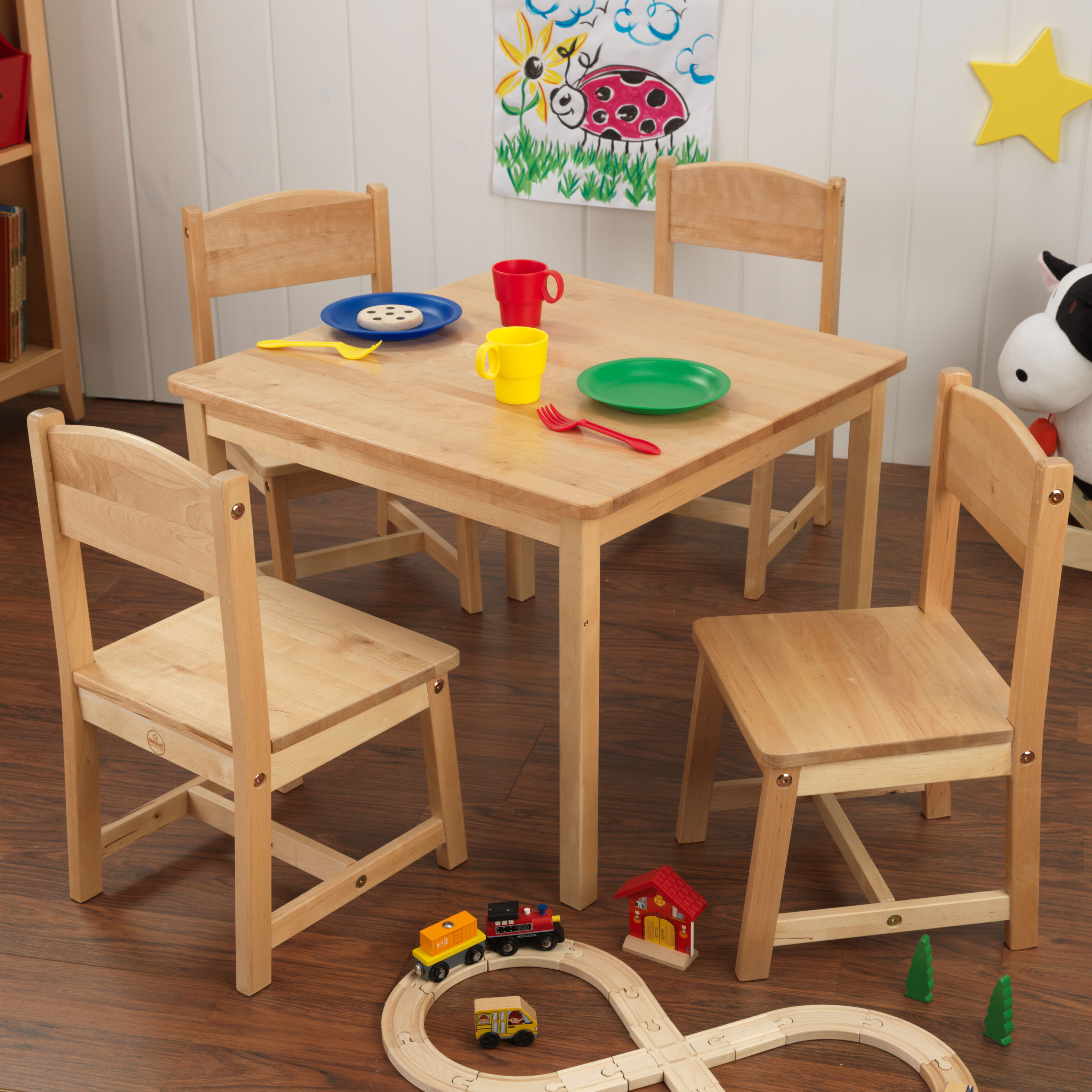 KidKraft Farmhouse Kids 5 Piece Writing Table And Chair Set Reviews