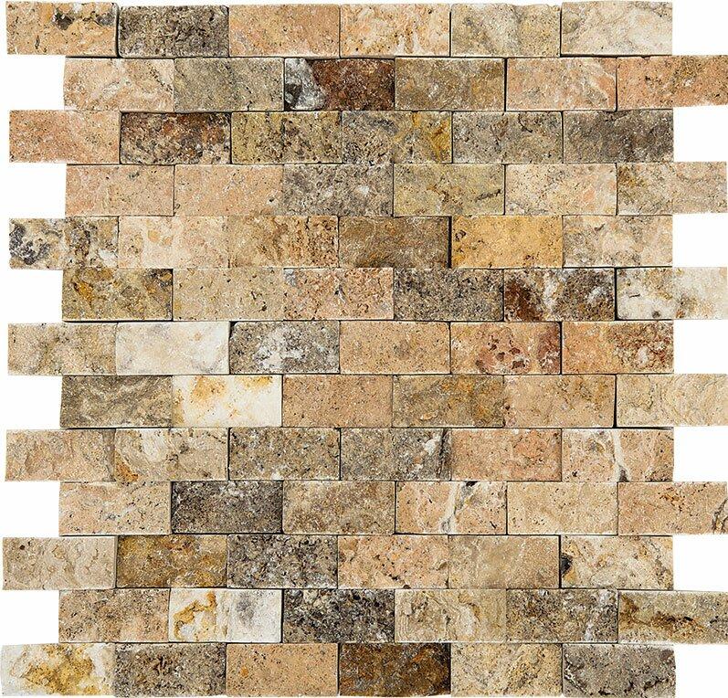 Parvatile Scabos Split Face 1 X 2 Stone Mosaic Tile