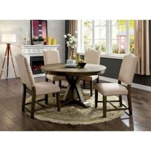Lowell 5 Piece Solid Wood Dining Set One Allium Way