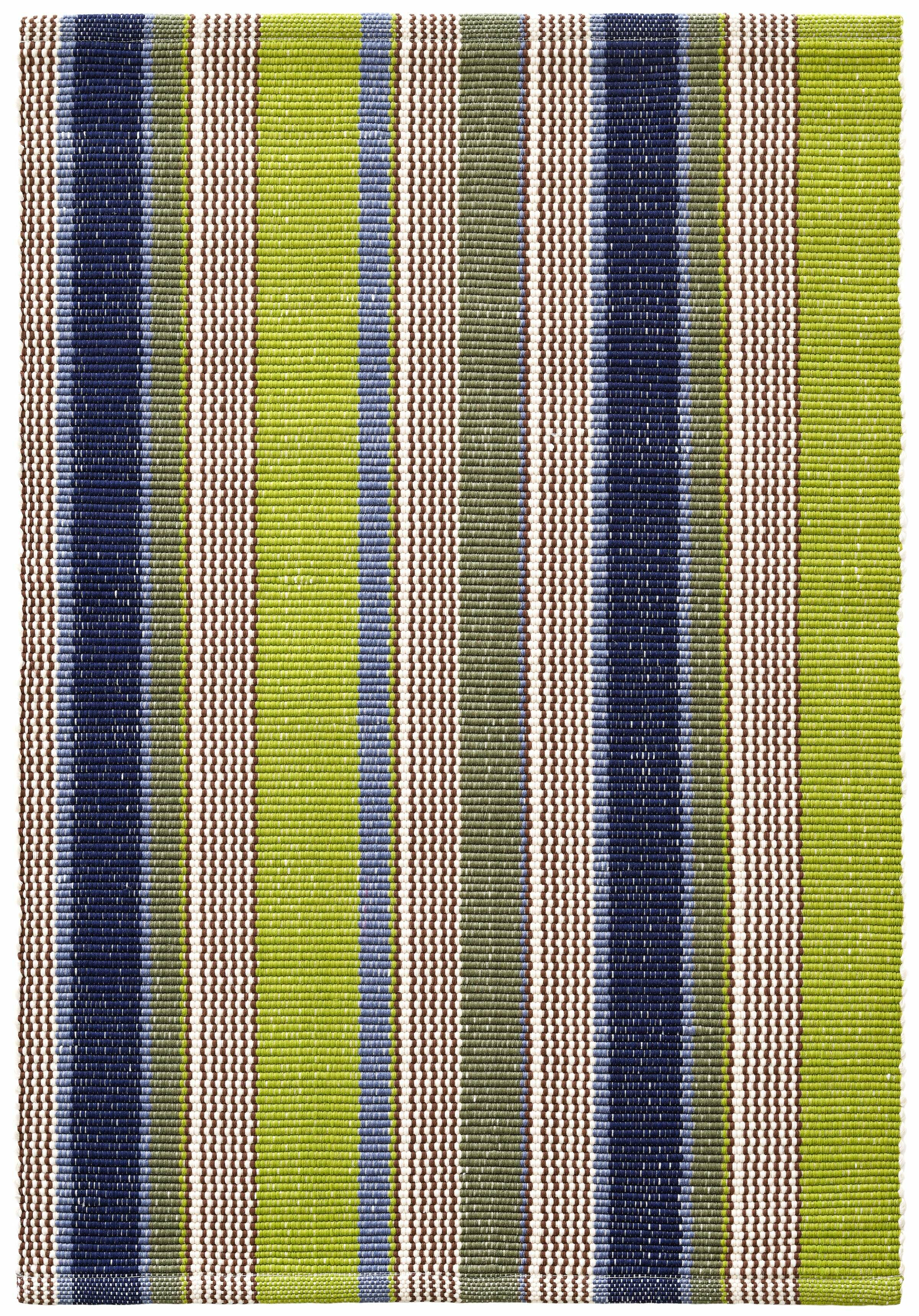 Dash And Albert Rugs Marina Striped Hand Woven Flatweave Green Indoor Outdoor Area Rug Reviews Wayfair