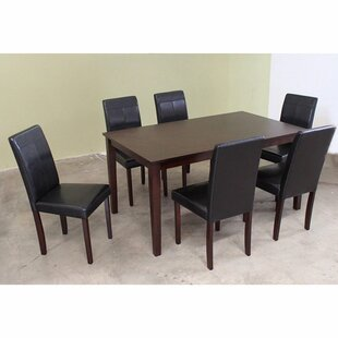 7 Piece Solid Wood Dining Set by Warehouse of Tiffany Find
