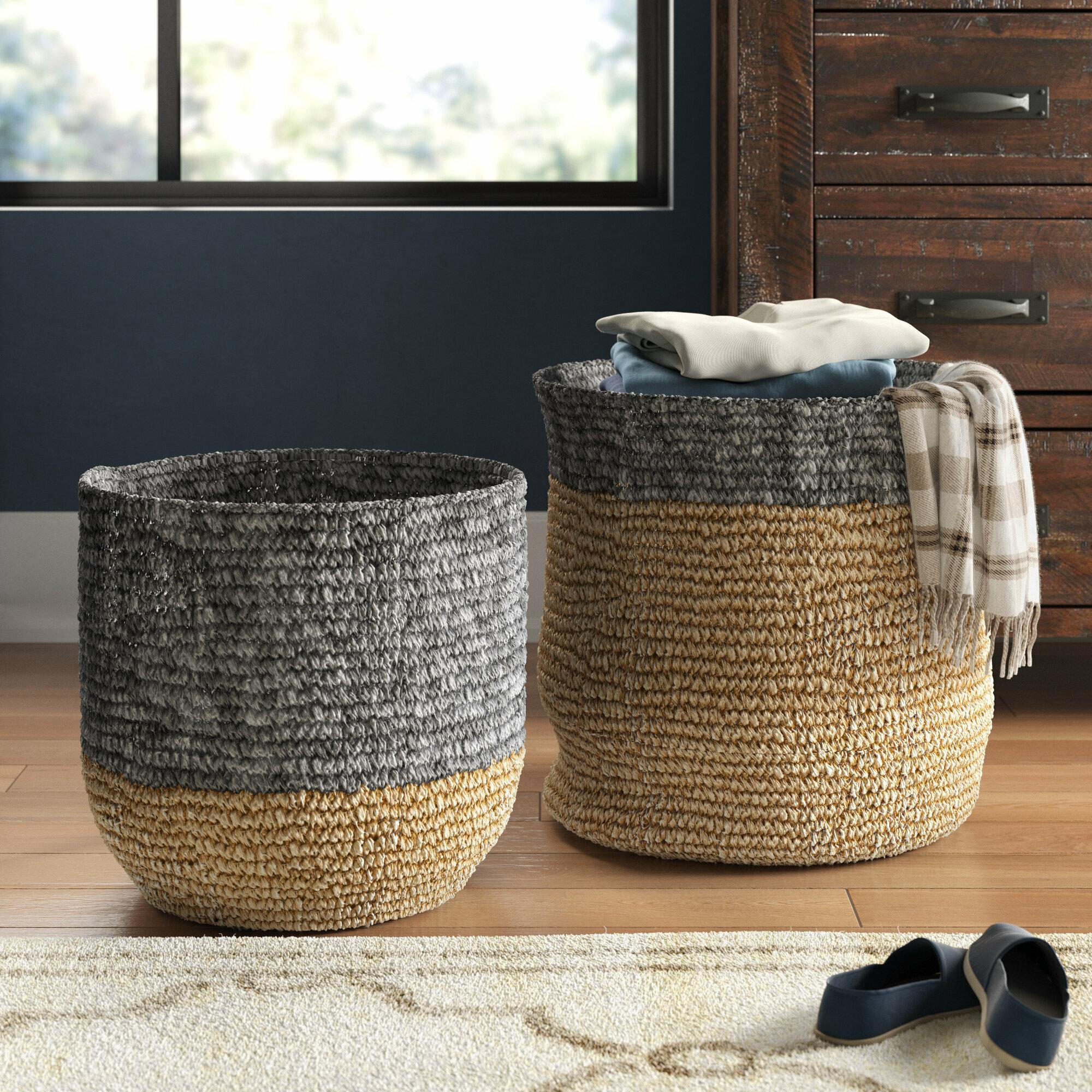 Seagrass 2 Piece Wicker Basket Set Reviews Birch Lane