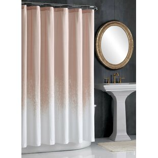 Lyon Blush Cotton Single Shower Curtain