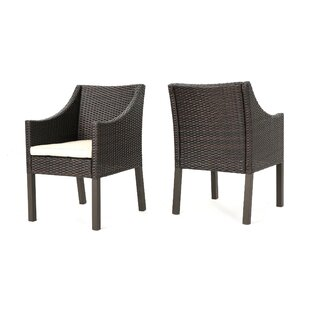 Arciniega Outdoor Wicker Patio Dining Chair (Set of 2)
