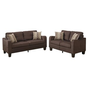 Bobkona Spencer 2 Piece Living Room Set by Poundex