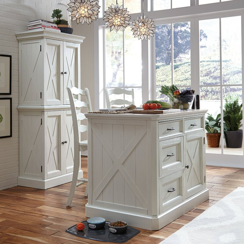 Laurel Foundry Modern Farmhouse Moravia Kitchen Island Set With Granite Top Reviews