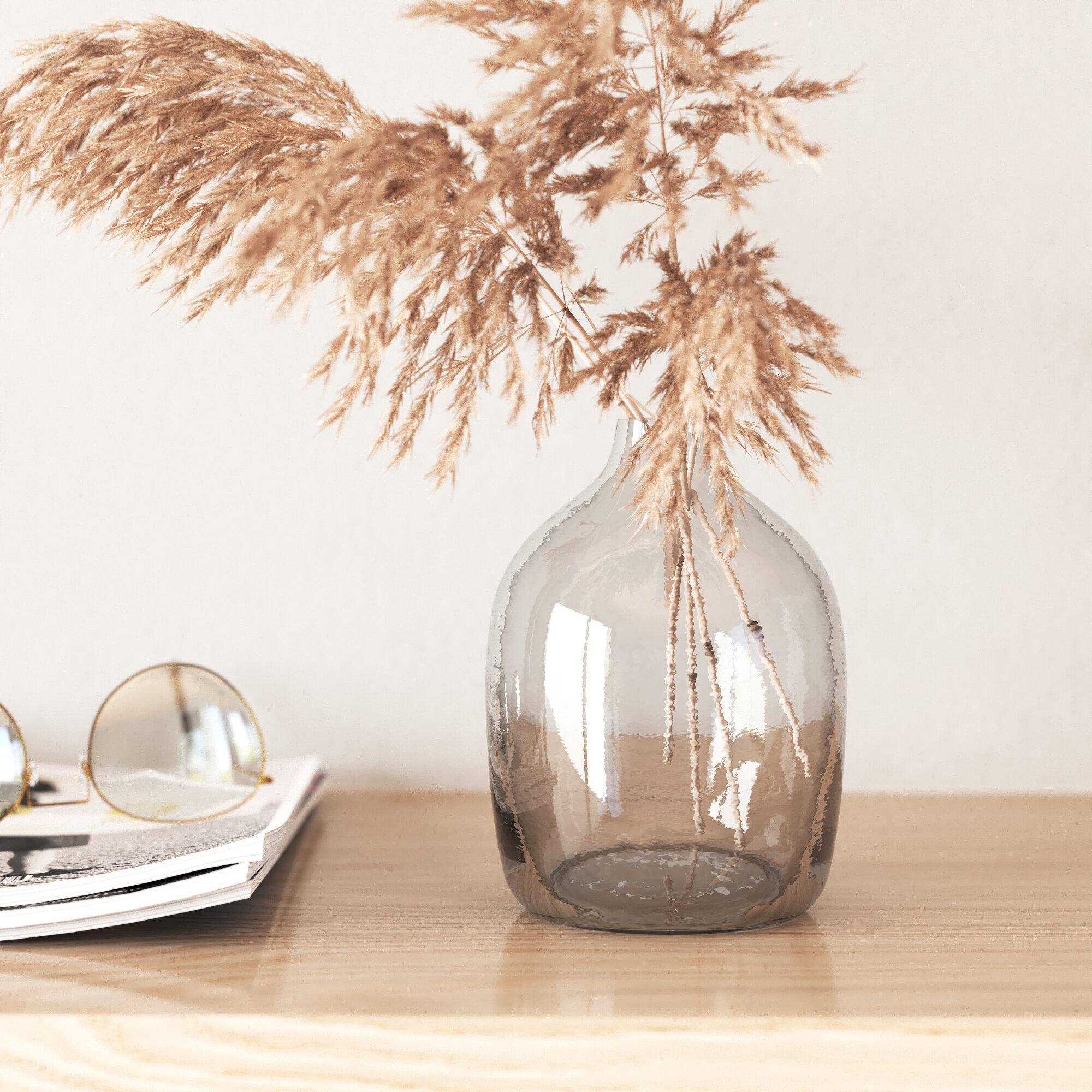 Allmodern Neale Clear Glass Table Vase Reviews Wayfair