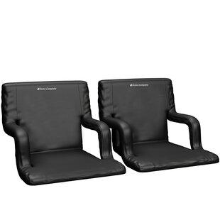 Reclining/ Folding Stadium Seat with Cushion (Set of 2)