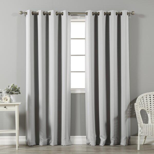 Charcoal Blackout Curtains Wayfair
