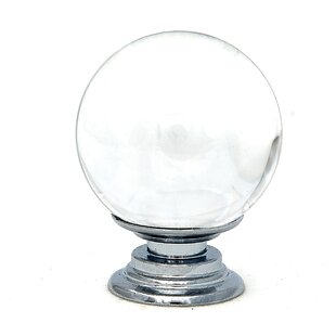 Crystal Glass Round Knob