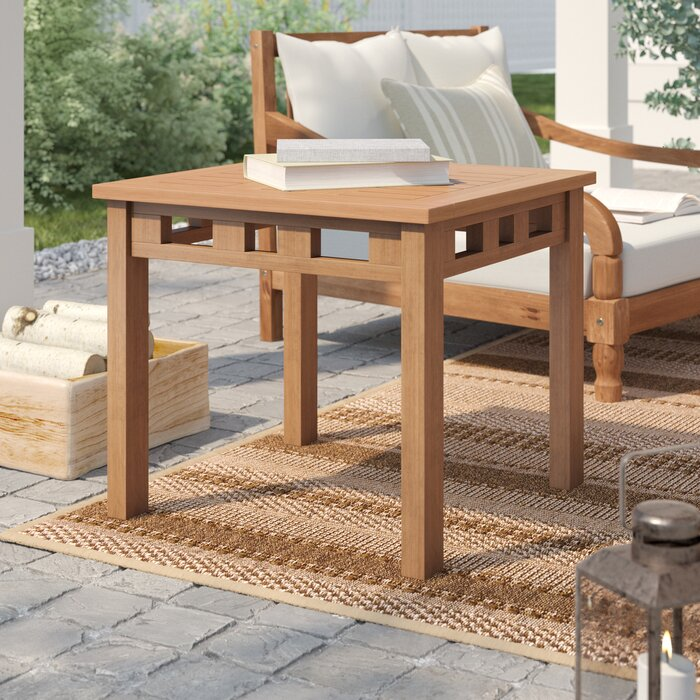 Outdoor Teak Side Table.Calila Teak Side Table