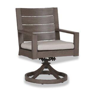 Laguna Swivel Patio Dining Chair with Cushion Sunset West