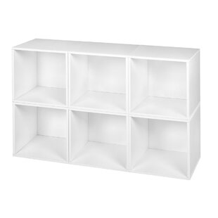 Buying Stackable Contemporary White Storage Laminate Cube By Rebrilliant