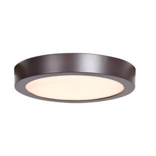 Comparison Tackett 1-Light LED Flush Mount By Ebern Designs