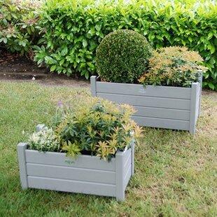 Grenelefe 2 Piece Wooden Planter Box Set by Lynton Garden