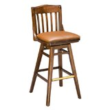 Beechwood School House Upholstered Seat Swivel Bar Stool by Regal