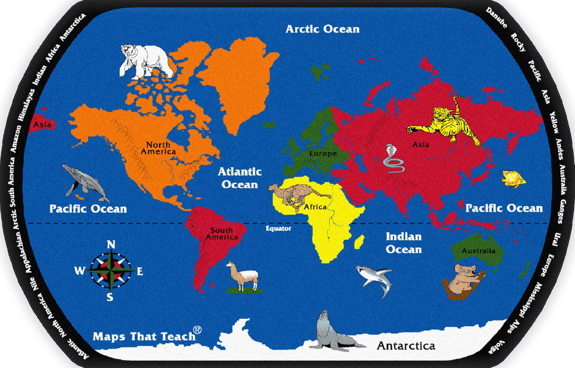 world map from australia