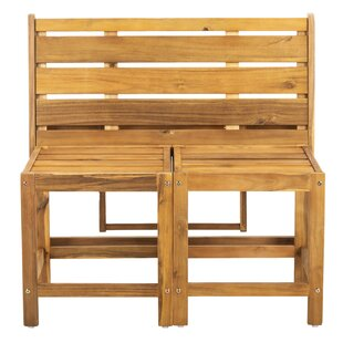 Overstreet Wooden Convertible Bench