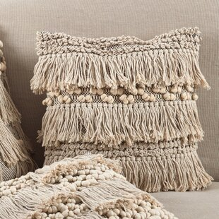 Clarkston Moroccan Wedding Blanket Fringe Cotton Throw Pillow