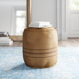 Overstreet 18 Round Striped Pouf Ottoman by Kelly Clarkson Home
