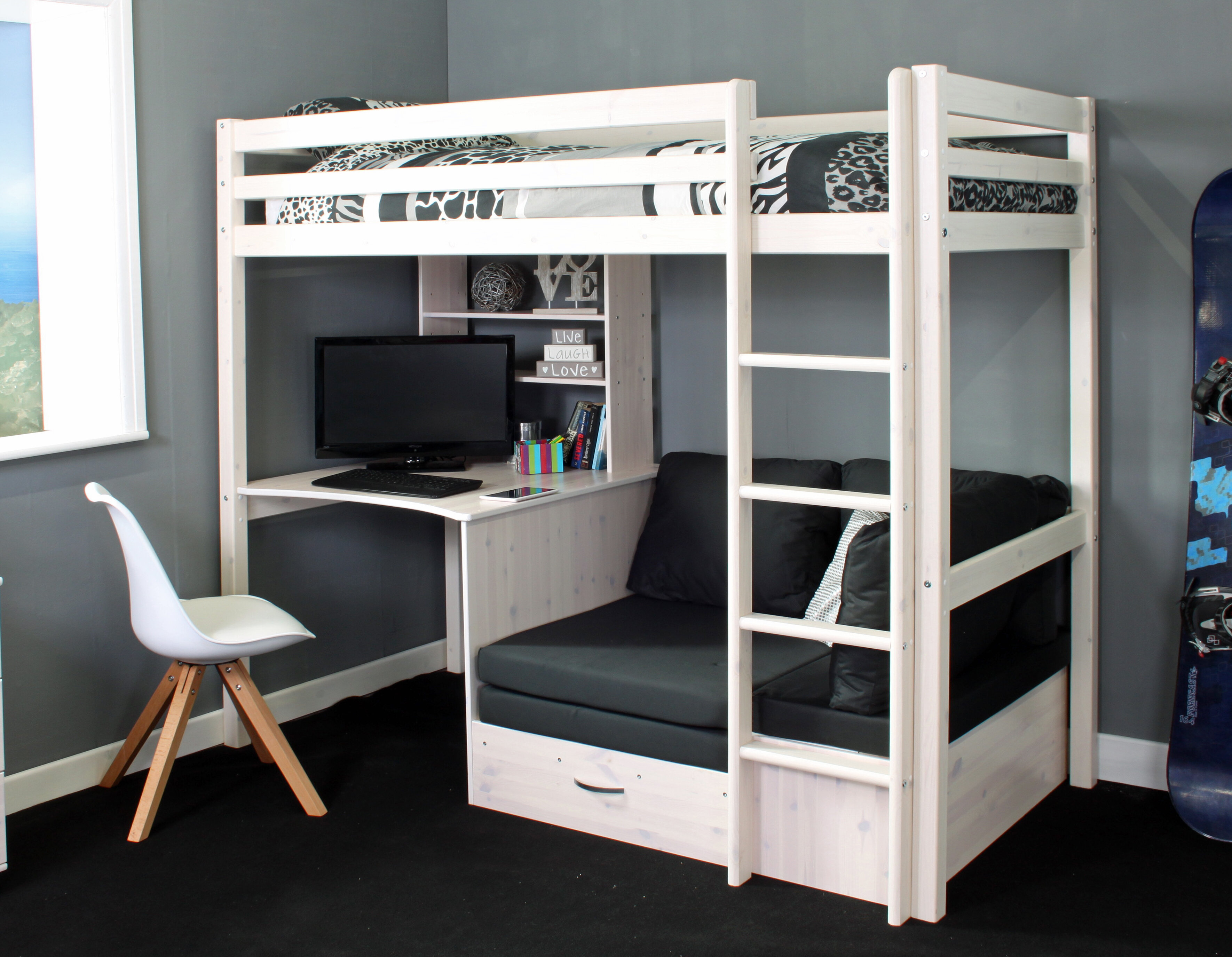 Bunk Beds With Desk You Ll Love Wayfair Co Uk