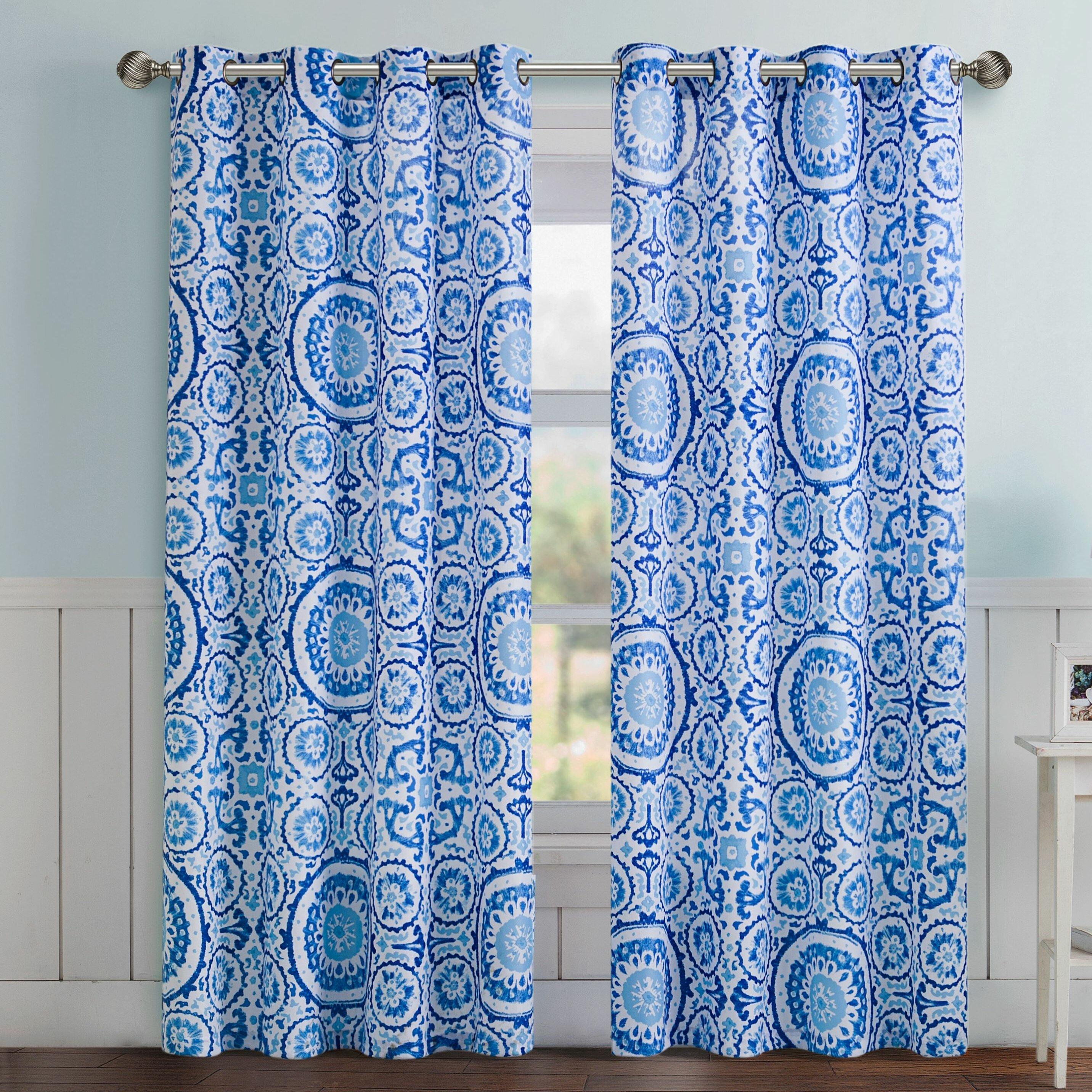 Dakota Fields Koga Geometric Room Darkening Grommet Curtain Panels Reviews Wayfair