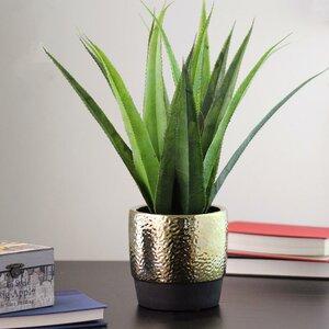 Artificial Desktop Succulent Agave Plant in Pot